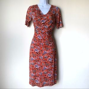 Boden Floral Faux Wrap Dress